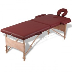 Table de massage Transportable en bois Vente Flash valable 48H
