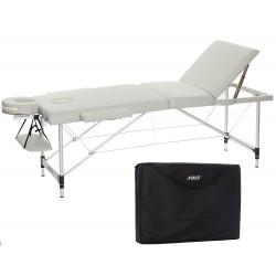 H-ROOT 3 Section Léger Table de Massage Portable Thérapie Tatoo Salon Reiki Suédois de Massage 12.75 kg